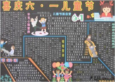 六一儿童节手抄报黑板报内容资料及图片收集